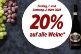20% Rabatt auf alle Weine (auch bereits reduzierte) bei Denner