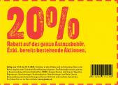 Jumbo: 20% auf alles Autozubehör