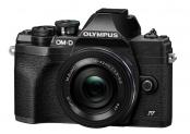 Olympus OM-D E-M10 Mark IV Pancake Kit, 14-42mm, Black (V207132BE000)