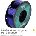 20% Rabatt auf das ganze PETG Filament Sortiment bei bastelgarage