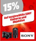 15% auf Sony Fotokameras & Objektive bei Mediamarkt (diverse Bestpreise)