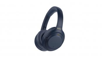 Sony WH-1000XM4 Overear-Kopfhörer mit ANC in Blau bei microspot