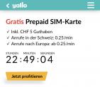 Gratis Prepaid Karte von yallo