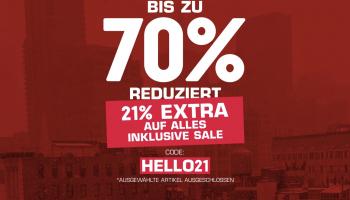 Snipes 21% auf Alles inkl. Sale