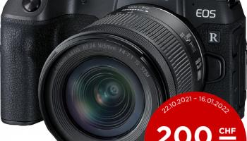 Canon EOS RP+RF24-105mm f/4-7.1 Kit 3380C155 für 989.- (Gutschein verwenden)