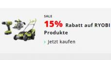 15% auf das RYOBI Sortiment bei microspot.ch