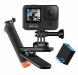 GoPro Hero9 Black + Extra Akku + Magnetklipp + Case + Schwimmender Handgriff + 32GB MicroSD + 1 Jahr GoPro Abo