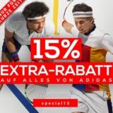 15% Extra-Rabatt auf alles von adidas bei Tennis-Point, z.B. adidas New York Striped Polo Herren für CHF 67.07 statt CHF 78.90