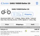 Bestpreis Early Rider Kinder Velo Belter 20 BabyJoe.ch