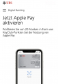 UBS: CHF 20.- in KeyClub-Punkten bei dreimaliger Zahlung mit Apple Pay im April