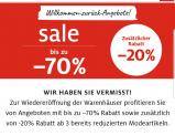 [Offline Deal] Manor auf bereits bis zu 70% Reduzierte Sachen