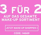 3 zum Preis von 2 auf das Make-Up-Sortiment bei The Body Shop