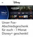 1 Monat Disney+ Gratis (Neukunden + Kunden ohne aktives Abo)