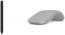 Microsoft Surface Pen, schwarz + Surface Arc Maus, silber bei Amazon