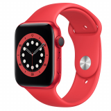 EM Deal: Apple Watch Series 6 GPS, 44mm Alu Rot, Sportarmband PRODUCT (Red)
