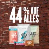 MyProtein: 44% auf alles mit exklusivem Gutschein!