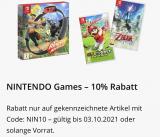Microspot 10% Rabatt auf Nintendo Spiele