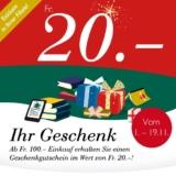 CHF 20.- Gutschein ab einem Bestellwert von CHF 100.- bei Orell Füssli