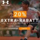 Nur heute: 20% extra auf alles von Under Armour bei Tennis-Point, z.B. Under Armour Threadborne Center Court V T-Shirt für CHF 44.72 statt CHF 75.-