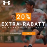 Nur heute: 20% extra auf alles von Under Armour bei Tennis-Point, z.B. Under Armour Threadborne Center Court V T-Shirt für CHF 44.72 statt CHF 75.-