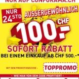 Nur heute: CHF 100.- Rabatt bei Conforama ab einem Bestellwert von CHF 500.-