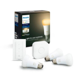 PHILIPS LED Birne HUE Starter Kit White Ambiance BT (E27, ZigBee, Bluetooth, 8.5 W)