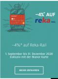 4% auf Reka-Rail Checks mit Manor Karte