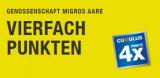 [lokal AG, BE, SO / 29.8. bis 1.9.2019] 4-fach Cumulus bei Migros (Supermarkt- und VOI Migros-Partner)