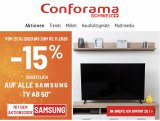 """– 15% auf Samsung TVs über 50"""" bei Comforama"""