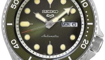 Seiko 5 Sports Automatikuhr in Dunkelgrün