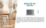 LIVIQUE Bon CHF 50.- Rabatt ab 150.-
