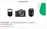 Fotokameras und Objektive – Ausstellerartikel vergünstigt.