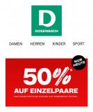 50% auf ausgewählte Schuhe bei Dosenbach