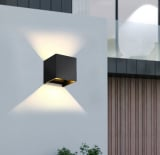 Hausbeleuchtung 12W COB LED Wand-Lampe aus Aluminium in weiß oder schwarz