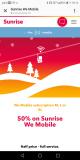 50% auf We Mobile Abos von Sunrise