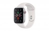 Apple Watch Series 5 GPS + Cellular, 44 mm Aluminiumgehäuse silber, Sportarmband weiss bei DQ Solutions