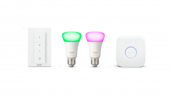 Philips Hue White & Color Ambiance E27 Starter Set mit Dimmer bei microspot