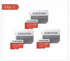 Samsung Evoplus 128 GB 3 Stück