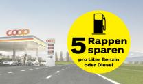 Coop Pronto – 5 Rappen Rabatt pro Liter Treibstoff