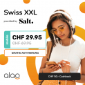 Salt Swiss XXL Abo bei Alao – mit lebenslangem Rabatt!