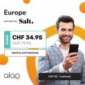 Salt Europe (alles unlimitiert in EU) bei alao für CHF 32.45