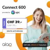 Internet-Abo UPC Connect 600 bei Alao (12Mt.) + CHF 100.- Brack Gutschein