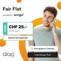 Wingo Fair Flat + CHF 100.- ZAK Startguthaben bei Alao