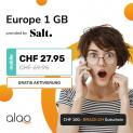 Salt Europe 1GB (unlim. Schweiz, 1GB Roaming in EU) + CHF 100.- Brack Gutschein bei Alao