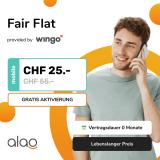 Wingo Fair Flat (CH unlimitiert, 2GB Roaming) für lebenslang CHF 25.-
