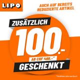 Lipo: Zusätzlich CHF 100.- GESCHENKT!