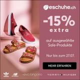 eschuhe.ch: 15% extra Rabatt auf Sale