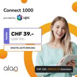 Internet-Abo UPC Connect 1000 bei Alao (12 Mt.) + CHF 100.- Brack Gutschein