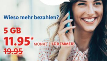 Unbegrenzt Telefonieren, SMS & 5GB für CHF 11.95