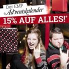 15% auf fast alles bei EMP, z.B. EMP Signature Collection Kapuzenjacke für CHF 65.41 statt CHF 76.95